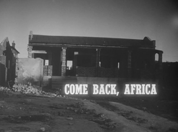 vlcsnap2010072716h57m11 Lionel Rogosin   Come back, Africa [+Extras] (1959)