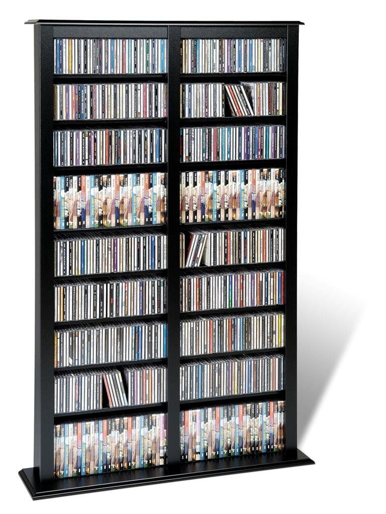 Almacenamiento mueble para colecci n de cds dvds juegos - Muebles para guardar cds ...