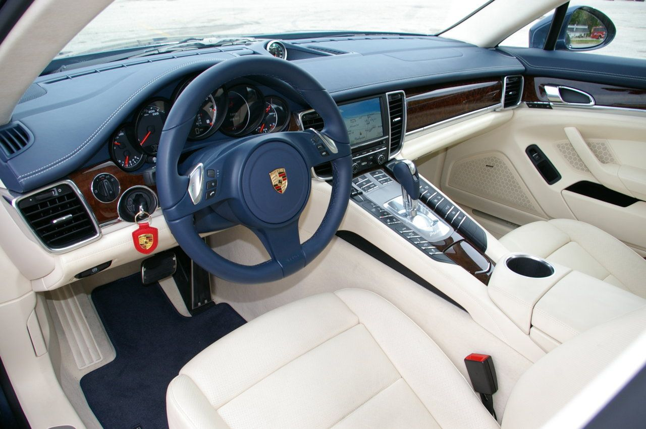 porsche panamera interior yachting blue crema only cars and cars. Black Bedroom Furniture Sets. Home Design Ideas