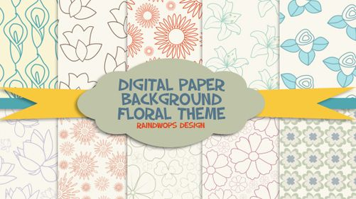 Floral Digital Paper Background