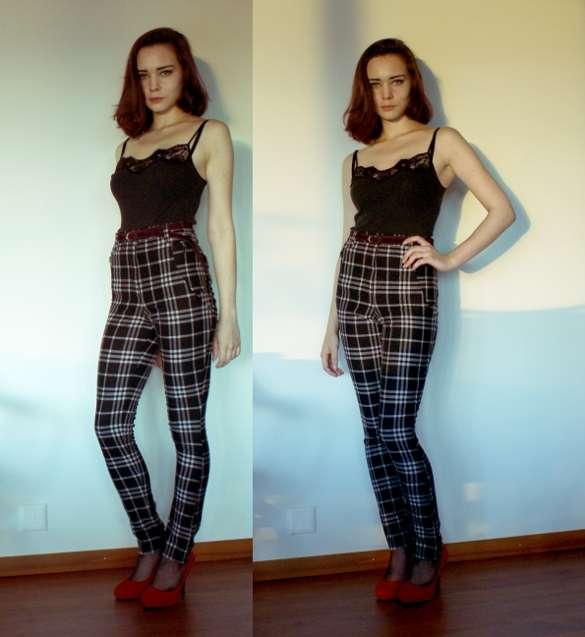 Girls Plaid Pants