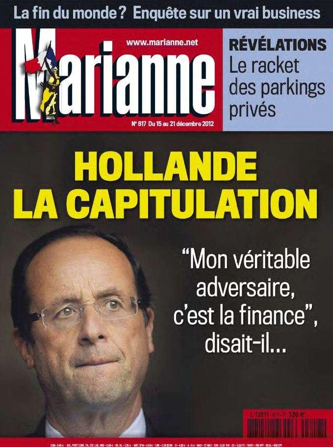 Marianne N°817 du 15 au 21 Décembre 2012